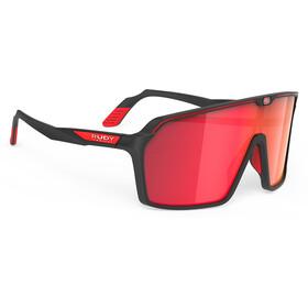 Rudy Project Spinshield Glasses black matte/multilaser red